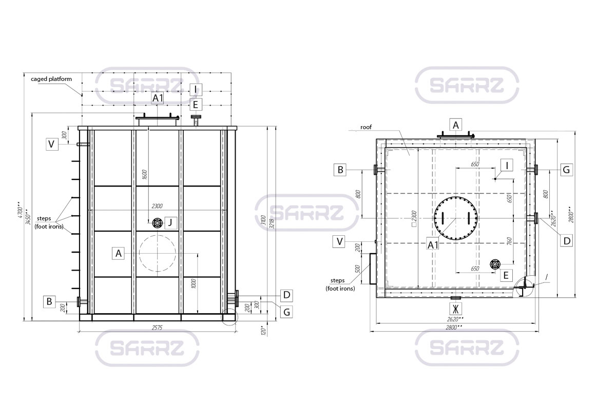 Rectangular tanks manufacture and supply