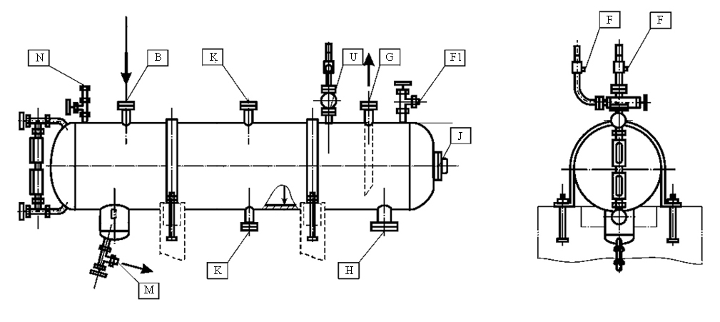 Drawing of hydrogen receiver