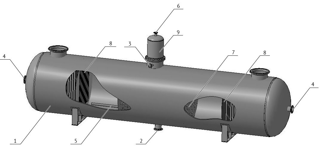 Advanced water filtration vessel drawing