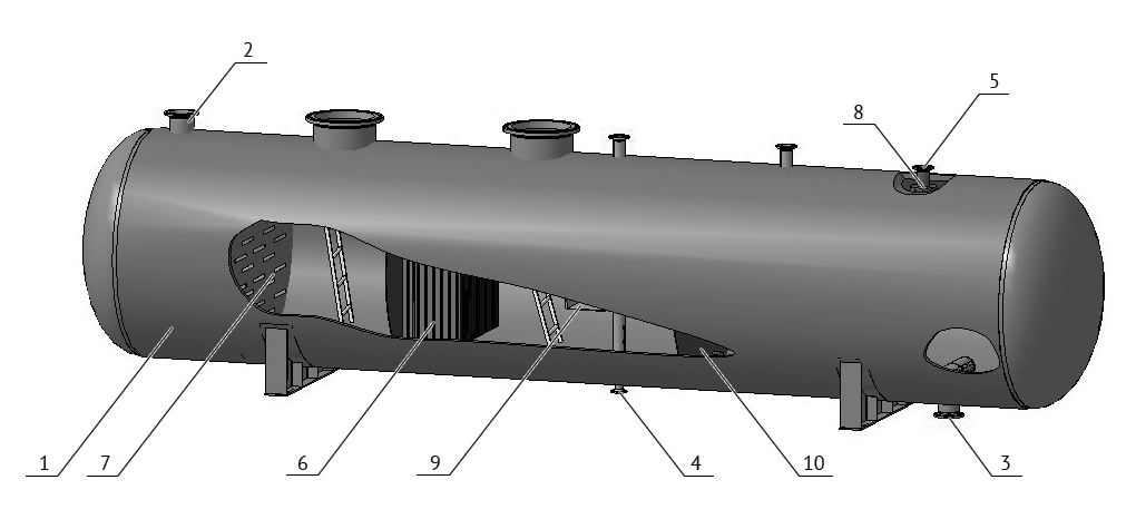 Water degassing buffer drawing