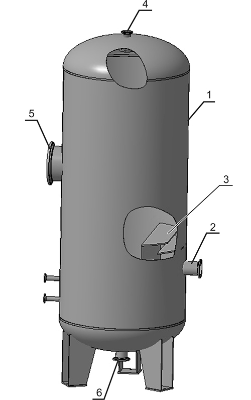 Vertical gas separator SGV drawing
