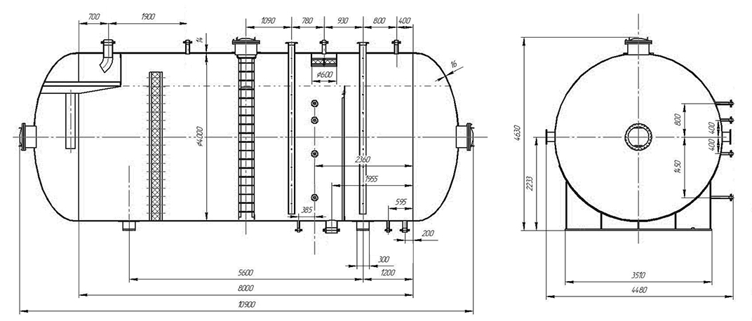 TFS-L separator drawing